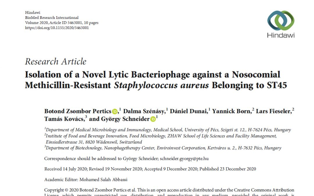 Isolation of a Novel Lytic Bacteriophage against a Nosocomial Methicillin-Resistant Staphylococcus aureus Belonging to ST45